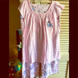 Woman's Disney pajamas of Eeyore and floral print